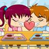 Игра для девочек Поцелуй в Кафешке бесплатно онлайн